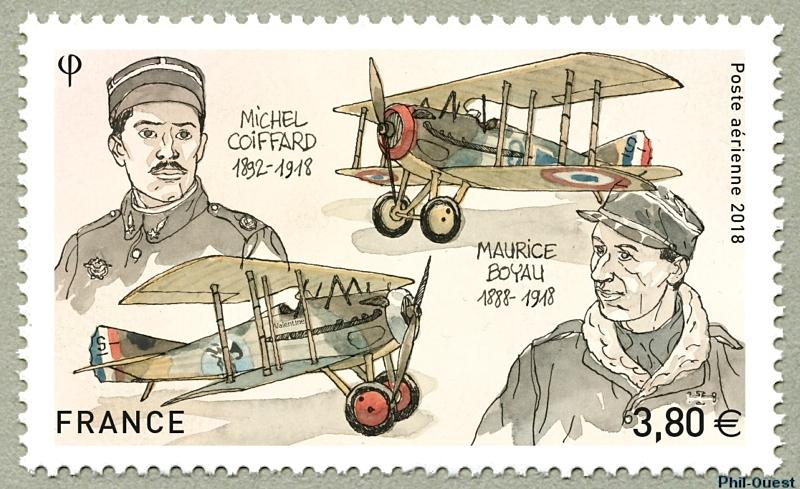 法国11月10日发行米歇尔・科法德和莫里斯・博阿乌邮票