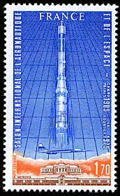 Salon de l a ronautique et de l espace timbre de 1979 - Salon international de l aeronautique et de l espace ...