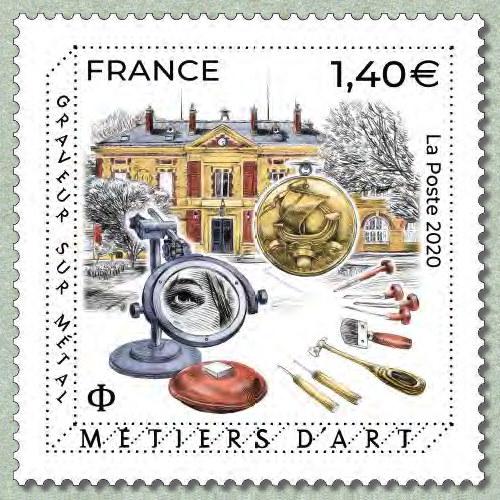 法国11月4日发行金属雕刻艺术邮票