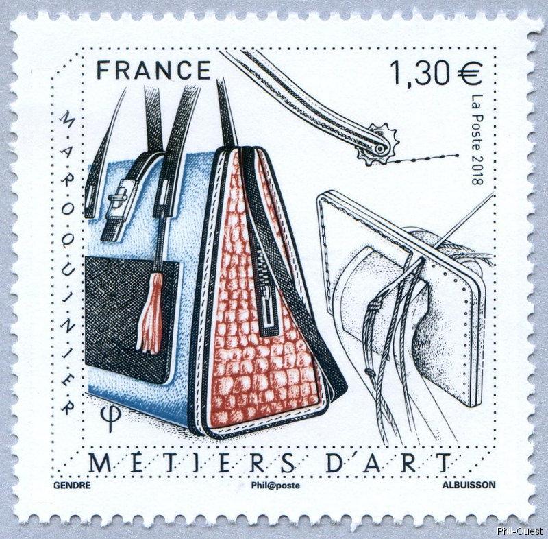 法国3月30日发行手工艺Maroquinier邮票