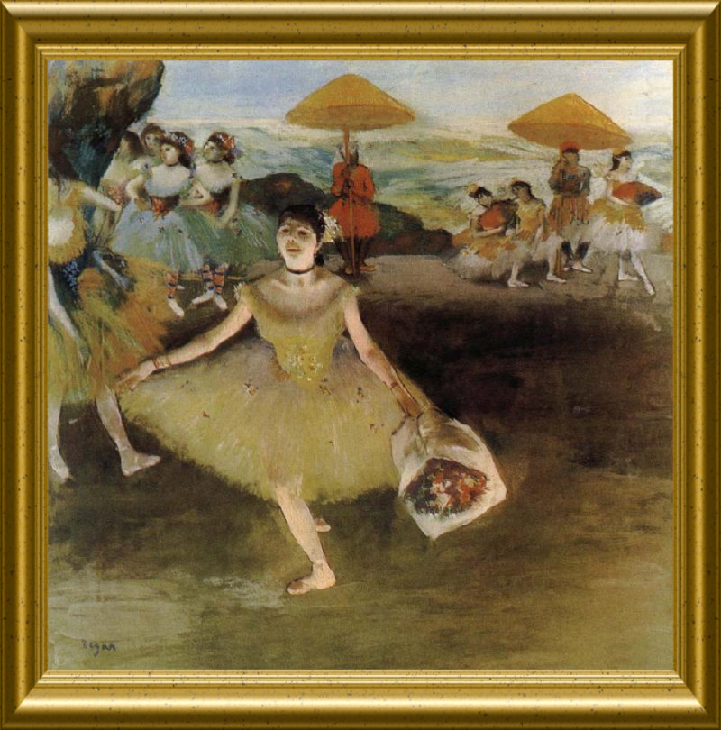 edgar degas 1834 1917 danseuse au bouquet saluant sur la sc ne timbre de 1970. Black Bedroom Furniture Sets. Home Design Ideas