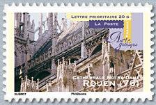 rouen 76 cath drale notre dame art gothique timbre de 2011. Black Bedroom Furniture Sets. Home Design Ideas