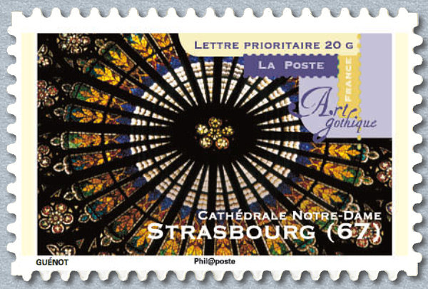 2011 adhesif timbre neuf cathedrale de strasbourg stamp y ebay. Black Bedroom Furniture Sets. Home Design Ideas
