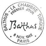 Balthus la chambre turque timbre de 1982 for Balthus la chambre turque
