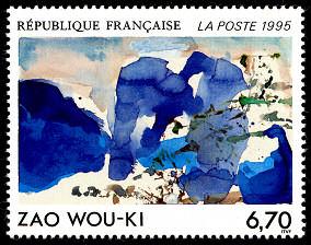 Zao Wou Ki Timbre De 1995