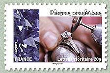 Pierres précieuses Les métiers de l´artisanat en France - Timbre de 2015