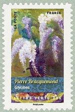 Pierre Bracquemond Glycines Bouquets de fleurs - Timbre de 2015