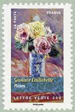 Image du timbre Gustave Caillebotte-Roses