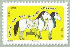 """Résultat de recherche d'images pour """"Monter sur ses grands chevaux timbre"""""""
