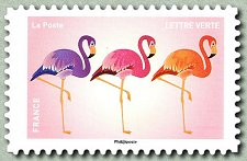 Image du timbre Flamants roses
