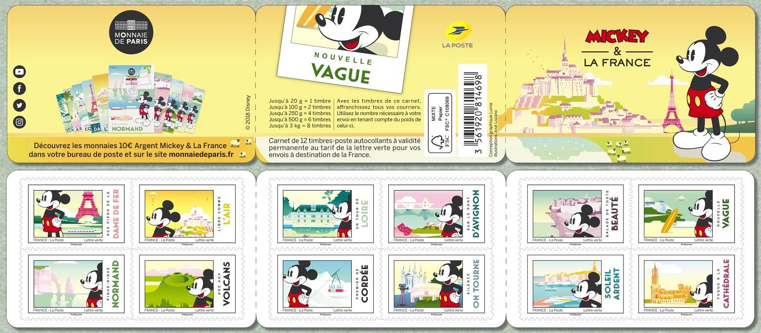 法国6月29日发行米奇和法国小本票