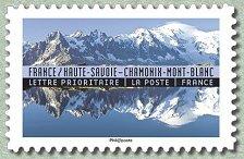 france haute savoie chamonix mont blanc reflets paysages du monde timbre de 2017. Black Bedroom Furniture Sets. Home Design Ideas