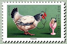 Image du timbre Poule en communication