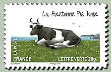 La bretonne pie noir Carnet « Les vaches de nos régions » - Timbre ...