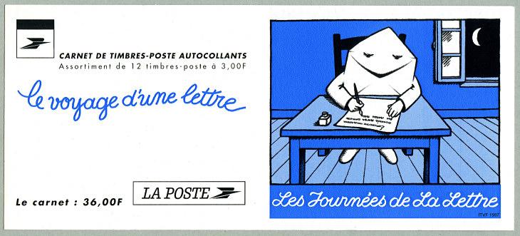 carnet de 12 timbres autoadh u00e9sifs le voyage d u00b4une lettre