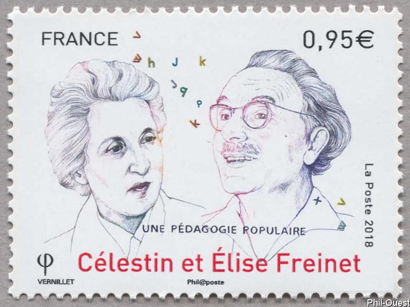 法国10月12日发行Célestin et élise Freinet邮票