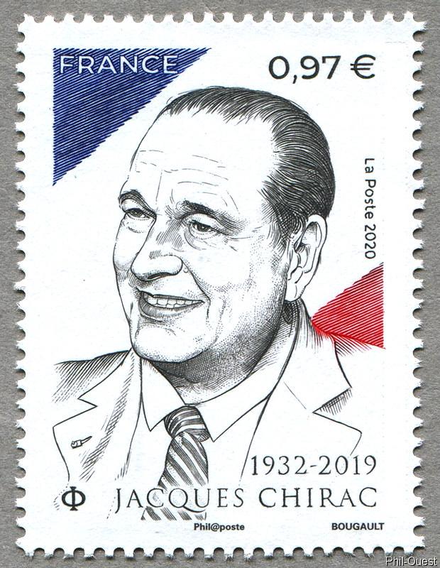法国9月26日发行雅克・希拉克1932-2019邮票