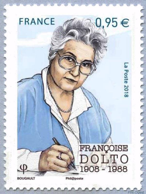 法国10月6日发行弗朗索瓦兹・多托邮票