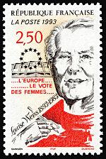 louise weiss 1893 1983 l europe le vote des femmes timbre de 1993. Black Bedroom Furniture Sets. Home Design Ideas