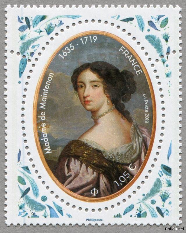 法国6月28日发行曼特农夫人邮票