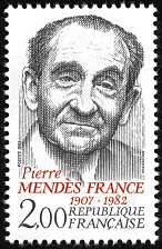 Pierre Mendès-France 1907-1982 - Timbre de 1983