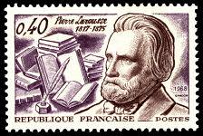 Pierre Larousse 1817-1875 - Timbre de 1968