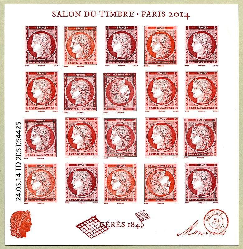 salon du timbre paris 2014 c r s 1849 timbre de 2014