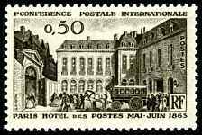 1 re conf rence postale internationale paris h tel des for Liste des hotels paris