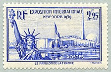 Image du timbre Exposition internationale de New-York 1939Le pavillon de la France