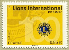 Image du timbre Lions International 1917-2017