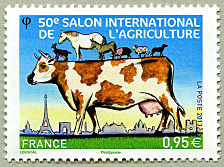 50 me salon international de l agriculture timbre de 2013 - Tarif salon agriculture ...