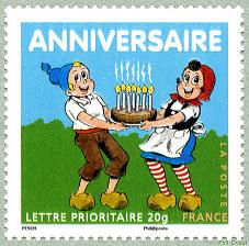 Joyeux Anniversaire Sylvain Et Sylvette Timbre De 2007