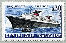 Le paquebot France - Timbre de 1962