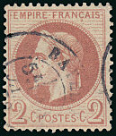 Image du timbre Napoléon III 2 c rouge-brun type II