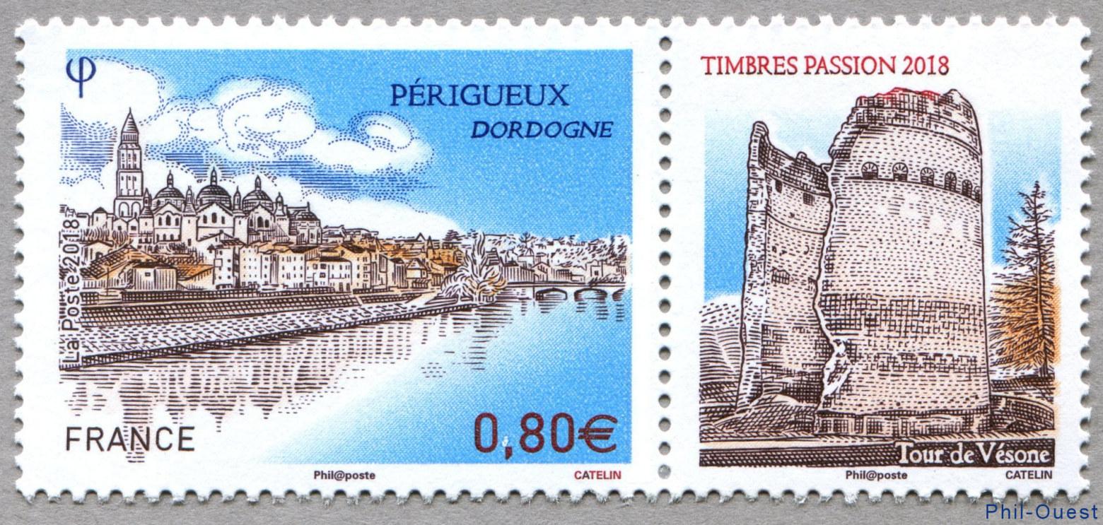 法国10月26日发行激情2018佩里格・多尔多涅邮票