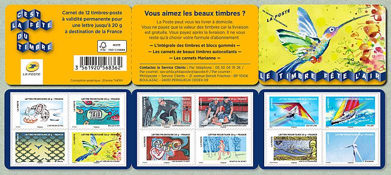 bande carnet de 12 timbres autoadh sifs f te du timbre 2013 le timbre f te l air timbre de 2013. Black Bedroom Furniture Sets. Home Design Ideas