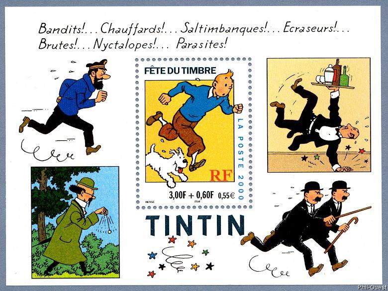 El Juego de las Efemérides y los Sellos - 2ª Parte. - Página 17 Tintin_Milou_bloc_2000