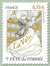 La valse f te du timbre la danse timbre de 2017 for Salon du timbre 2017