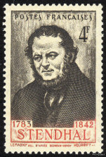 Image du timbre Stendhal 1783-1842