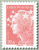 Image du timbre Lettre prioritaire 20g  France rouge