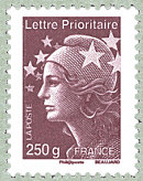 Image du timbre Lettre prioritaire 250 g France brun