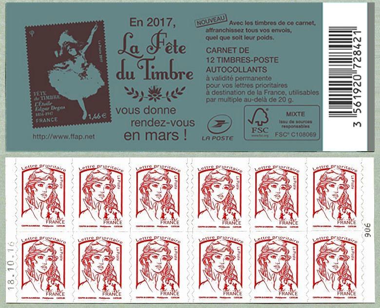 S rie de timbres de 2016 s rie de timbres for Salon du timbre 2017