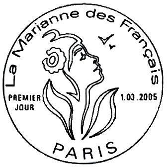 La Marianne de Lamouche bistre 0,05 € La Marianne des