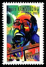 Louis Armstrong 1901-1971 Étoiles du Jazz - Timbre de 2002