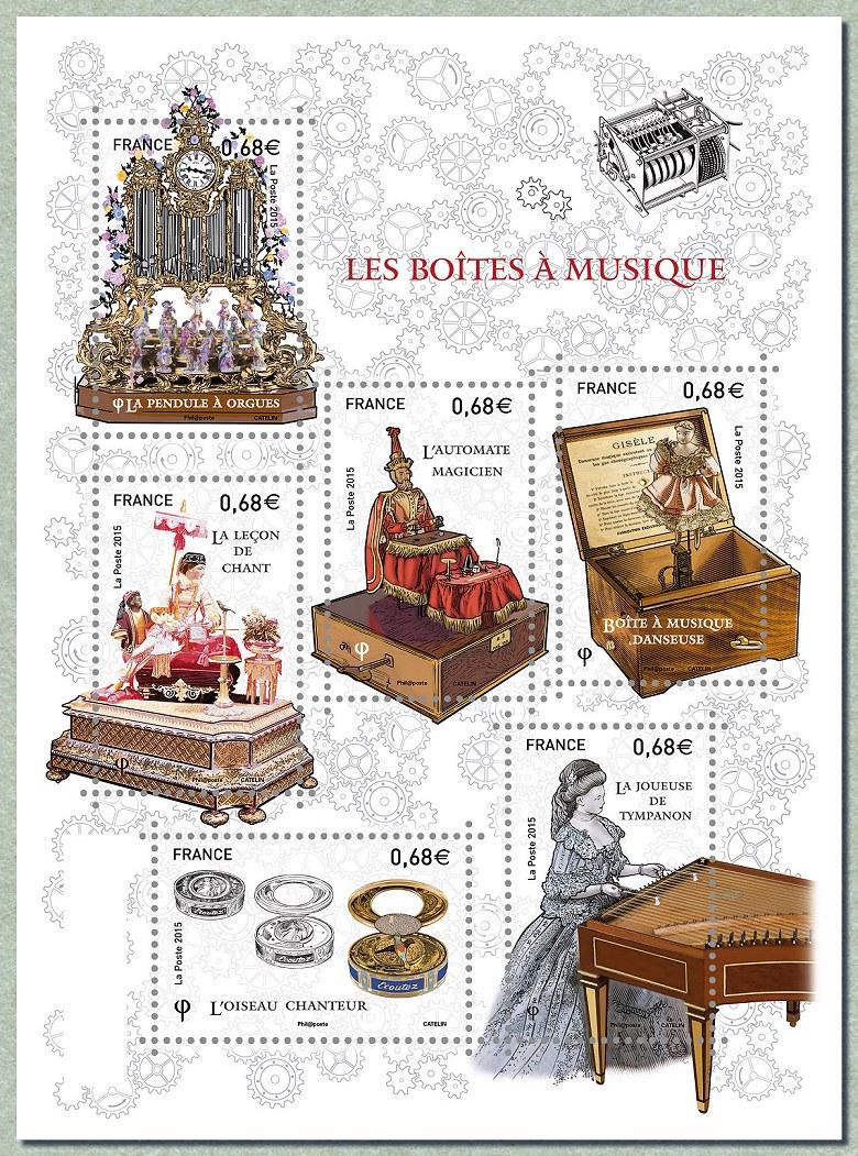 Les bo tes musique le coin du collectionneur timbre de 2015 - Les boites a musique ...