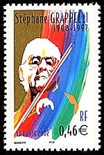Image du timbre Stéphane Grappelli 1908-1997