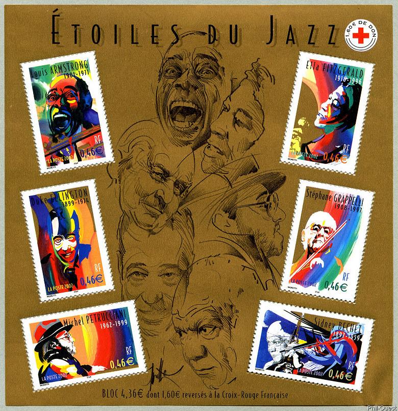 Image du timbre Bloc-feuillet «Étoiles du Jazz»