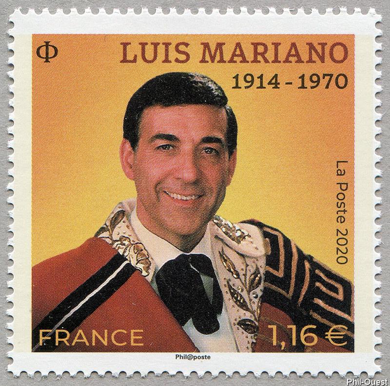 法国7月10日发行路易斯・马里亚诺邮票
