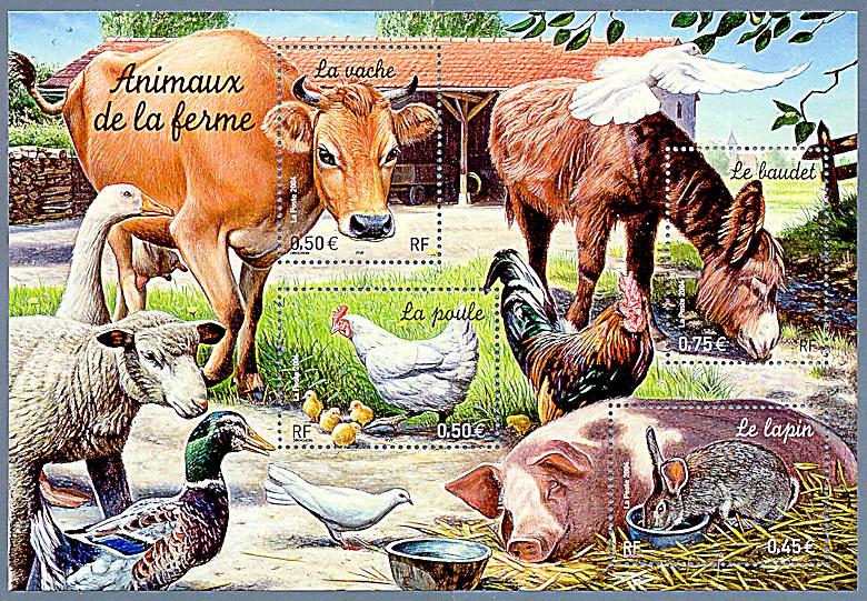 Les animaux de la ferme timbre de 2004 - Images d animaux de la ferme ...