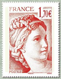 40 ans de la sabine de gandon sabine 1 70 euro rouge 71e for Salon du timbre 2017